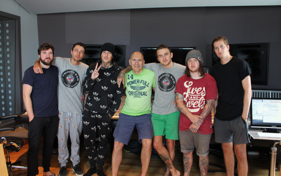 At the studio with Bring Me The Horizon