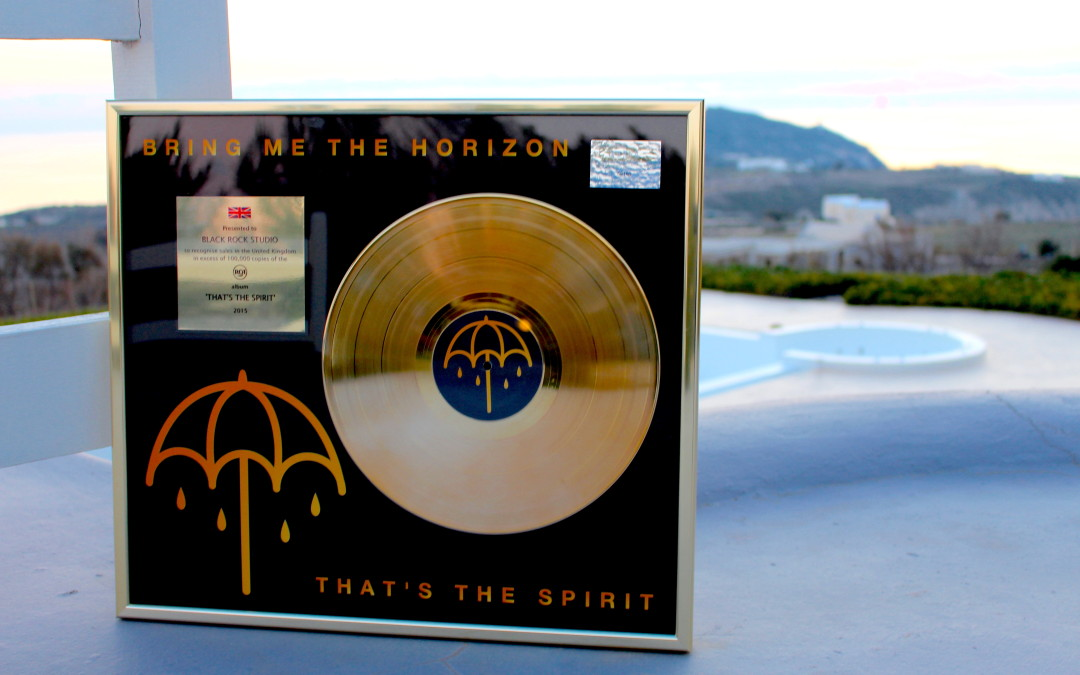 "Bring Me The Horizon new album ""That's the spirit"" recorded at Black Rock is gold in UK"